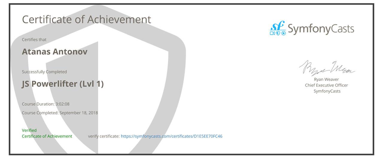 Javascript Powerlifter Level 1
