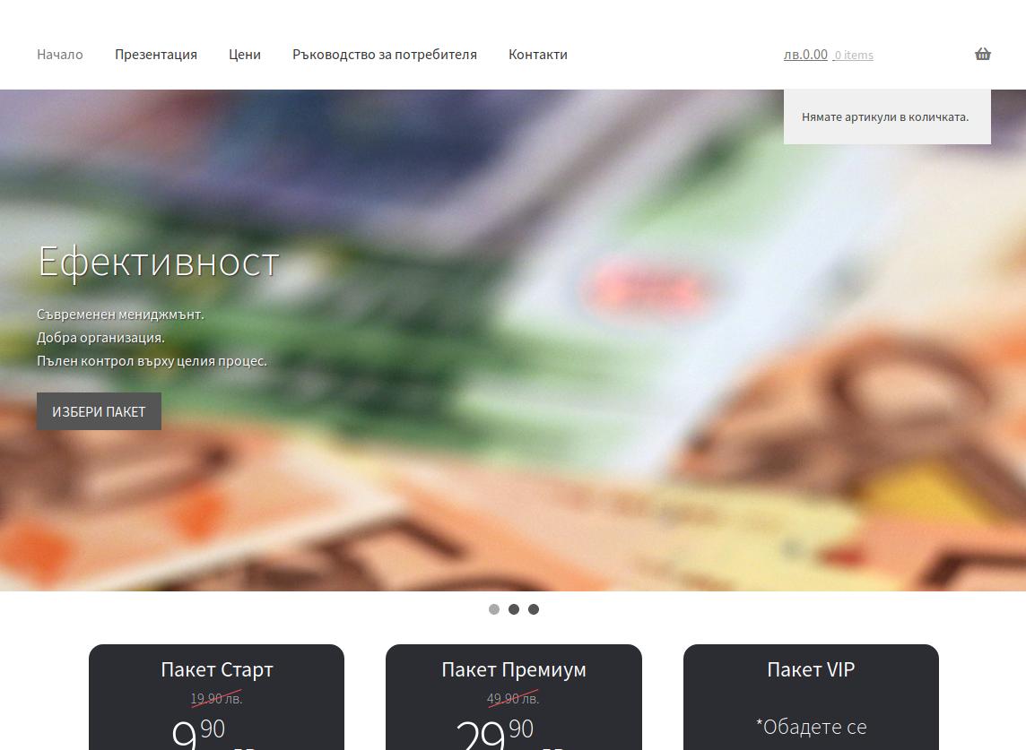 NS Vending Software website screenshot 1